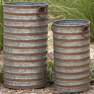 Maple and Jade Assorted Can Planters in Grey (Set of 2), , large