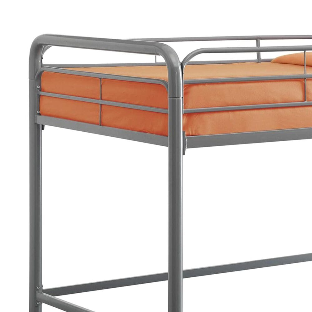 DHP Junior Twin Loft Bed in Silver, , large