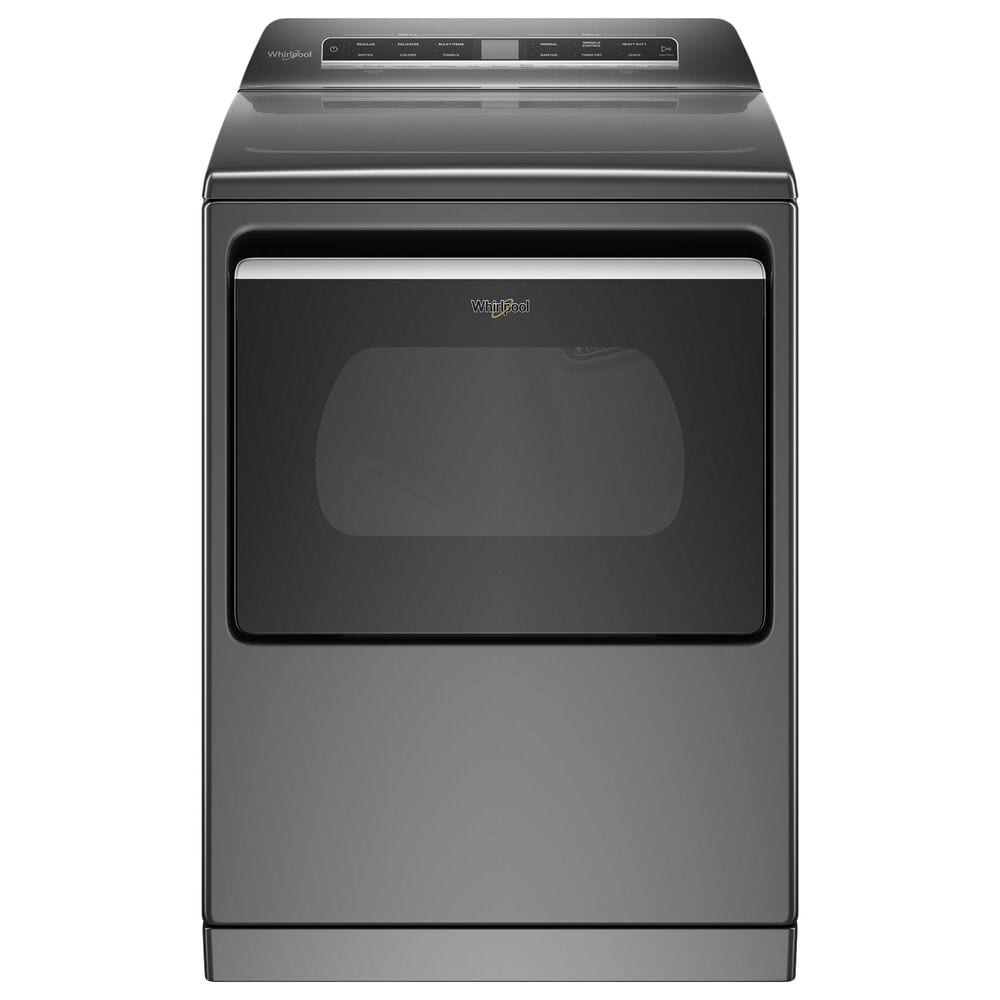 Whirlpool 5.3 Cu. Ft. Top Load Washer and 7.4 Cu. Ft. Electric Dryer Laundry Pair in Chrome Shadow, , large