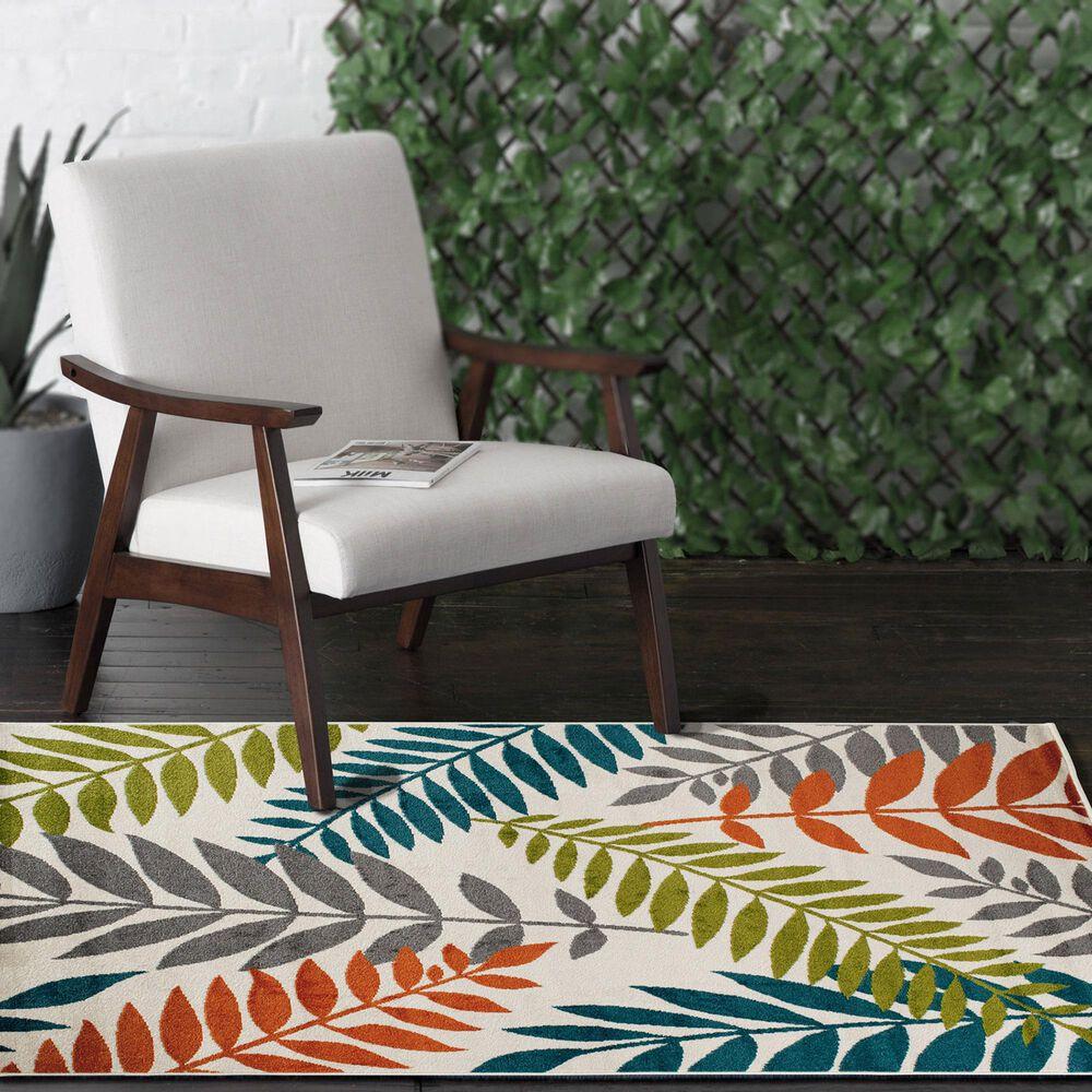 "Central Oriental Terrace Tropic Blythewood 2304NI.084 8'8"" x 11'10"" Multicolor Area Rug, , large"