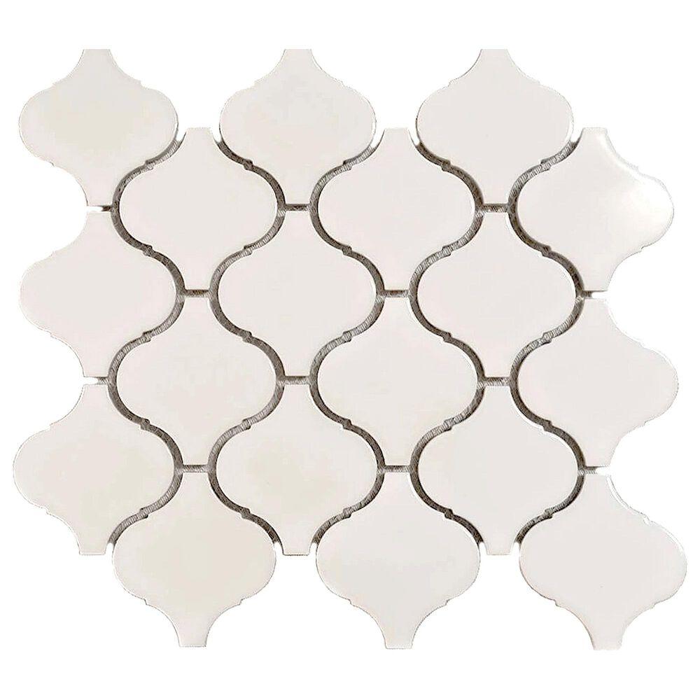 """Emser Influence White 10"""" x 11"""" Porcelain Mosaic Sheet, , large"""