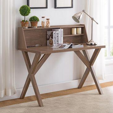 Global Movement Desk with 3 Shelves in Hazelnut, , large
