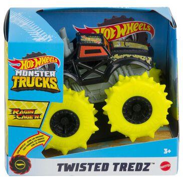 Hot Wheels Monster Trucks Twisted Tredz Ragin Cagen Vehicle in Black, , large