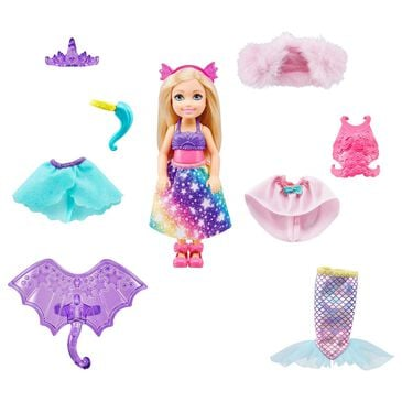 Barbie Barbie Dreamtopia Chelsea Doll Dress-Up Set with 12 Fashion Pieces, , large