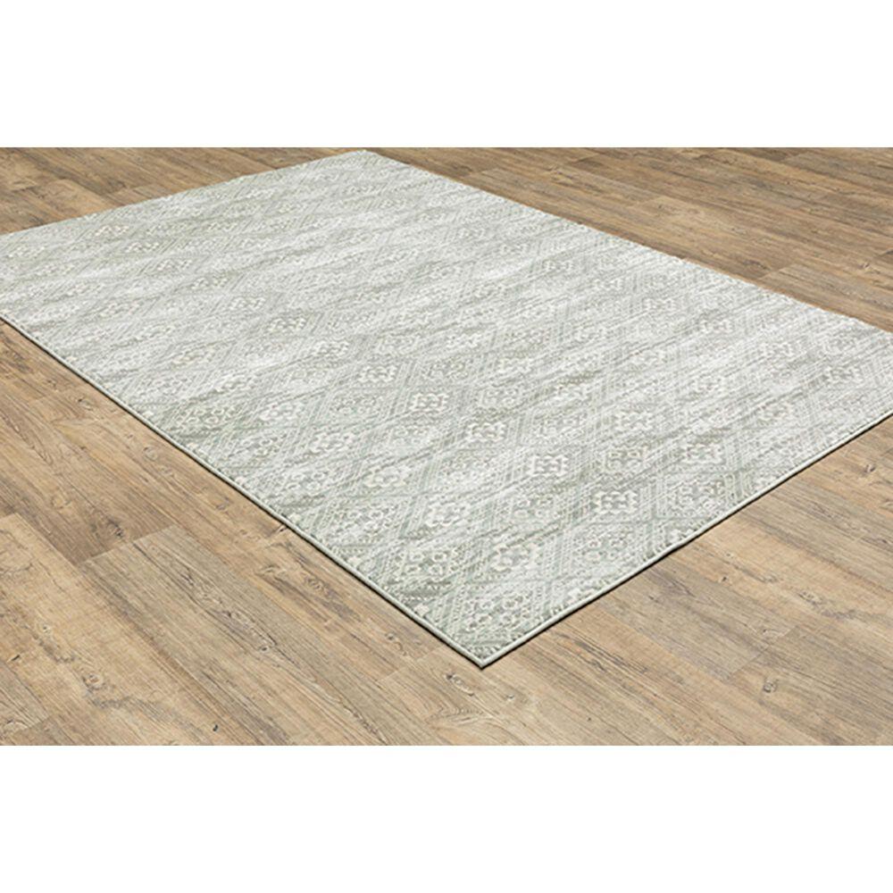 "Oriental Weavers Capistrano Geometric 9894F 2'3"" x 7'3"" Gray Runner, , large"
