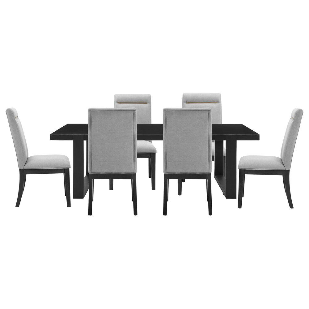 Steve Silver Yves 7-Piece Dining Set in Rubbed Charcoal, , large