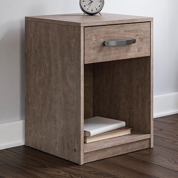 Signature Design by Ashley Flannia 1 Drawer Night Stand in Gray, , large