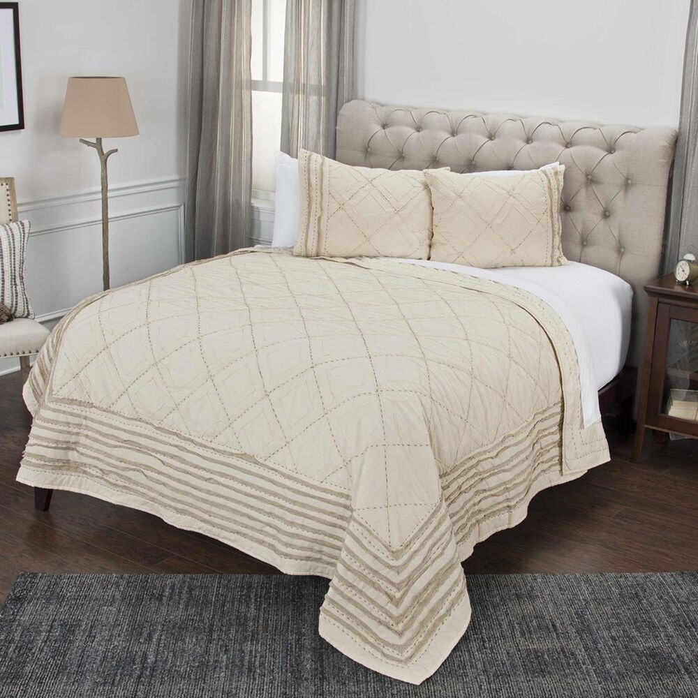 """Rizzy Home Lyric 20"""" x 26"""" Standard Sham in Brown, , large"""