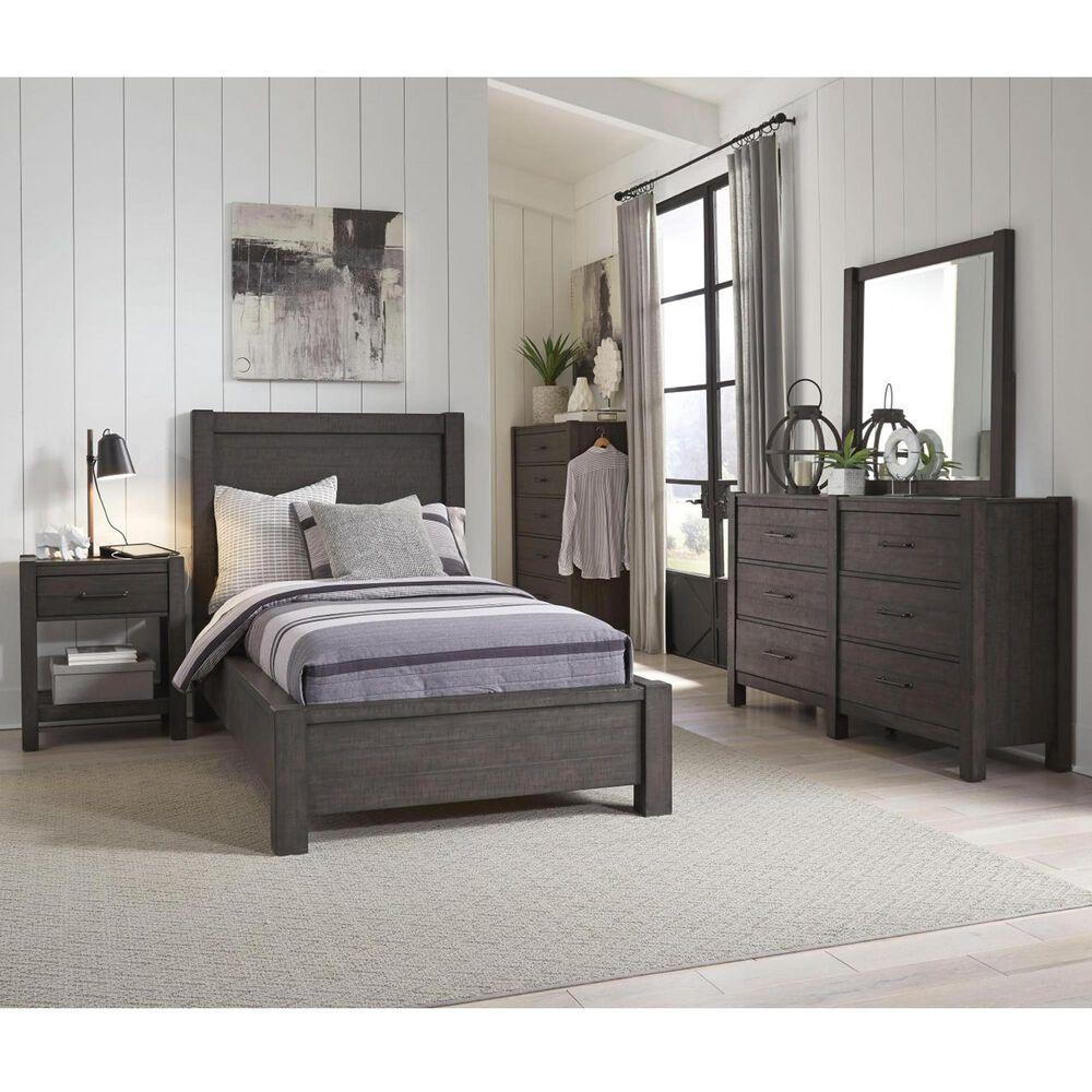 Riva Ridge Mill Creek 5 Piece Twin Low Profile Bed Set in Carob, , large