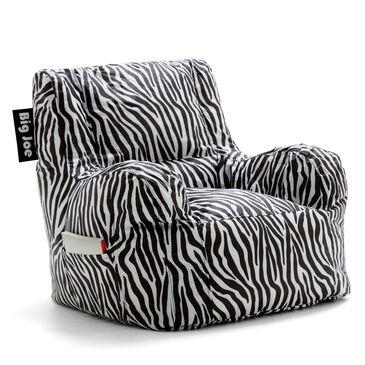Comfort Research Big Joe Zebra Print Bean Bag, , large