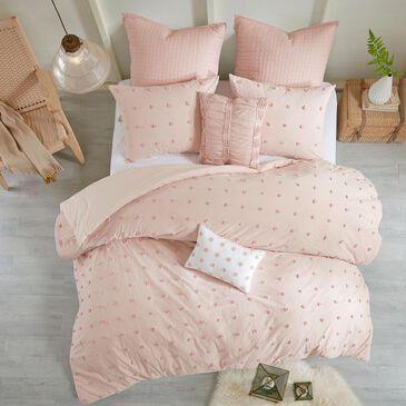 Hampton Park Brooklyn 7-Piece Full/Queen Comforter Set in Pink, , large