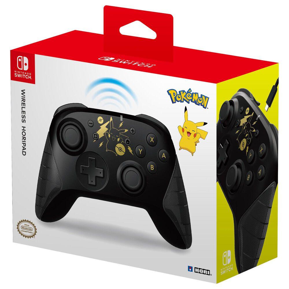 Hori Horipad Pikachu Wireless Controller in Black and Gold - Nintendo Switch, , large