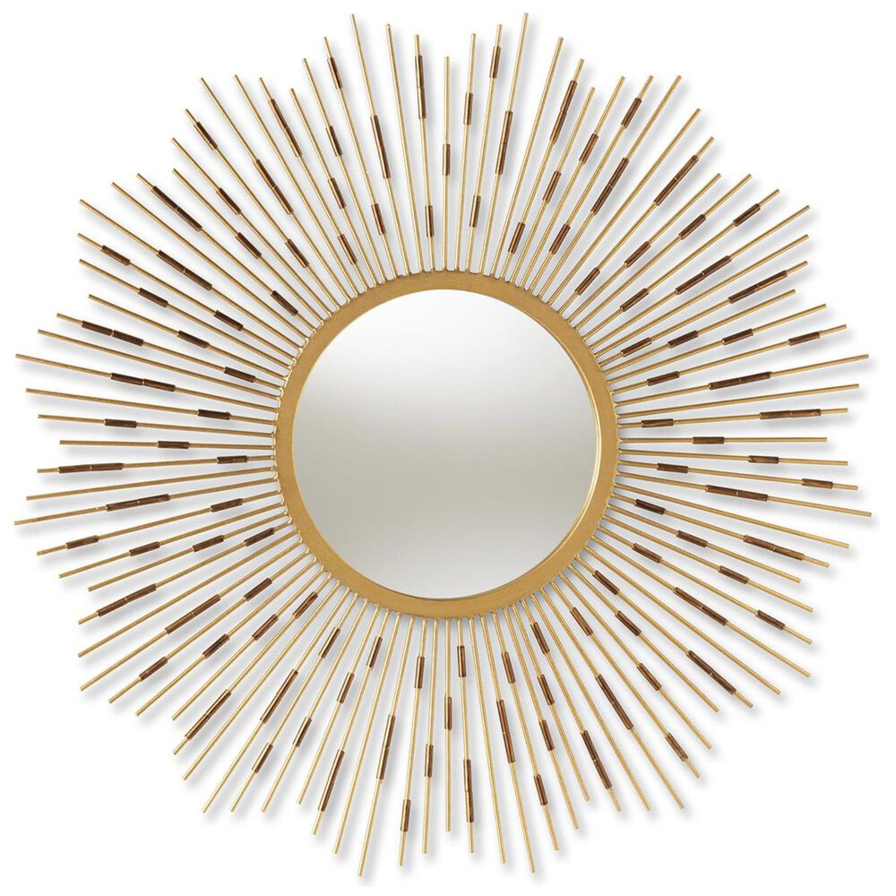 Baxton Studio Apollonia Accent Wall Mirror in Gold, , large