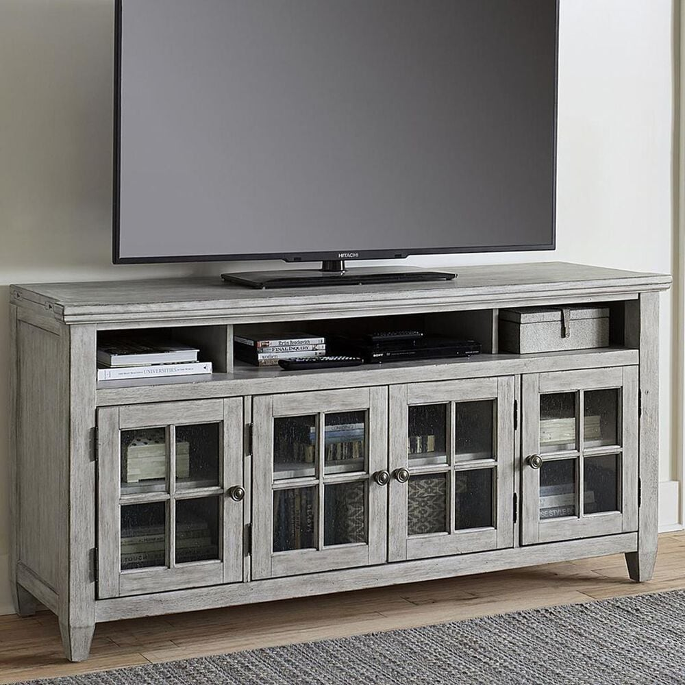"""Belle Furnishings Heartland 66"""" TV Stand in Antique White, , large"""