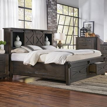 A-America Sun Valley Queen Storage Bed in Charcoal, , large