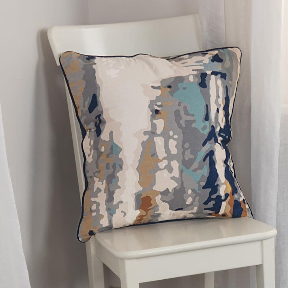 """Rizzy Home Connie Post 20"""" Pillow Cover in Gray/Navy, , large"""