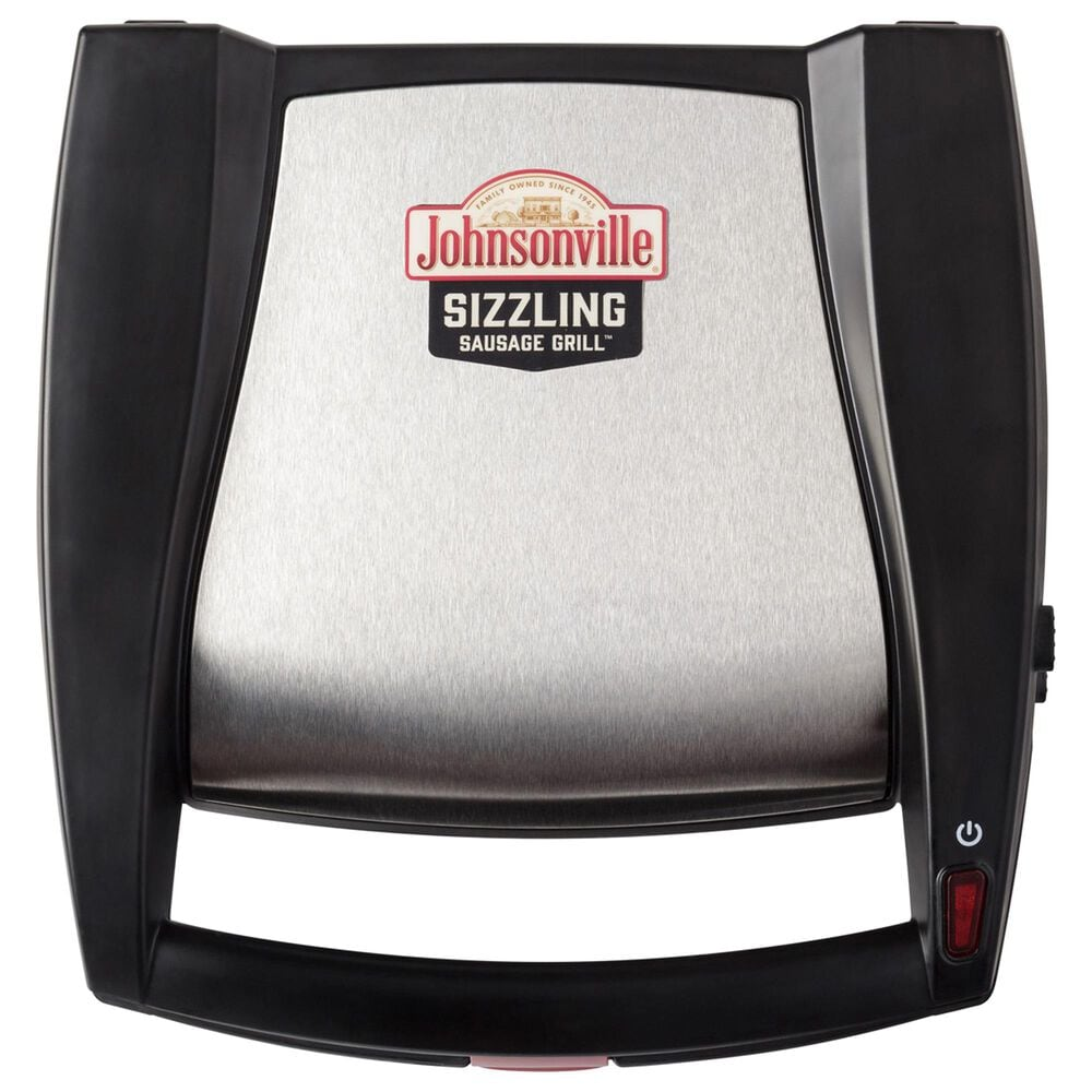 Englewood Sizzling Sausage Grill with Drip Tray in Black, , large