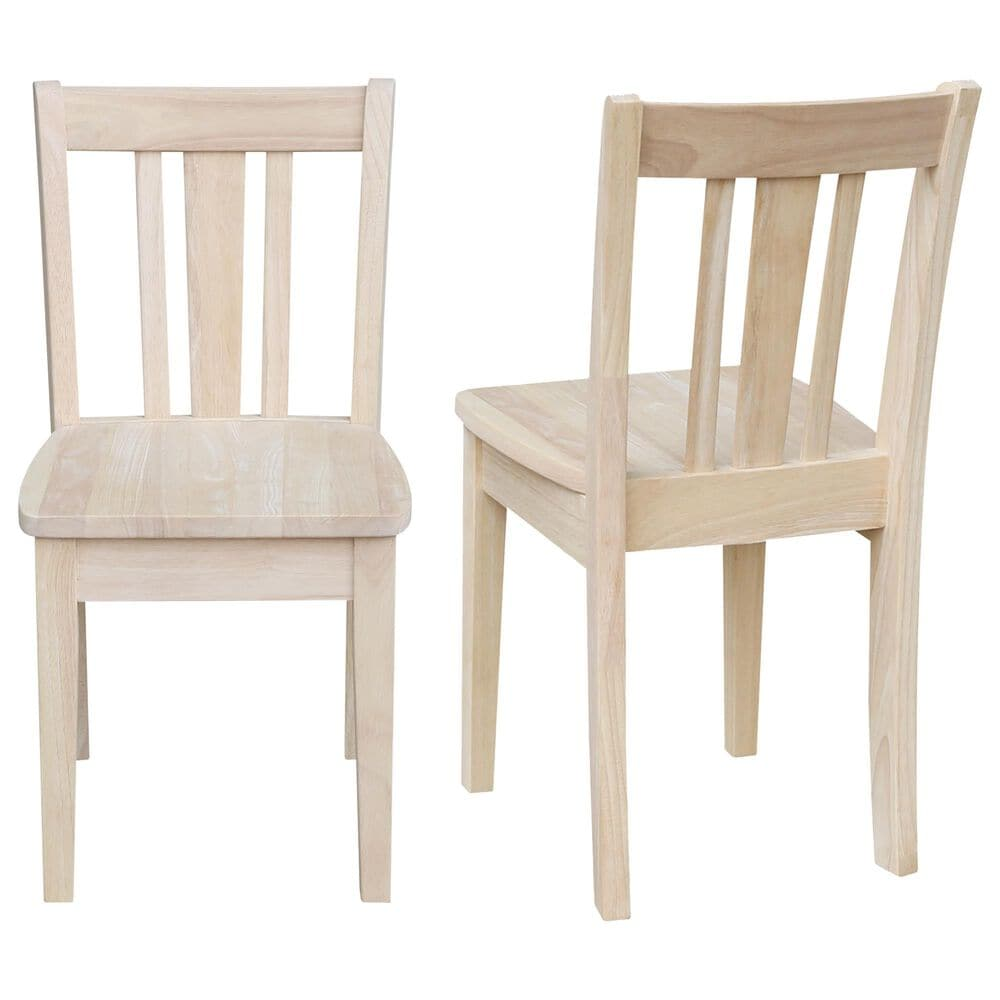 International Concepts San Remo Juvenile Chairs in Unfinished (Set of 2), , large