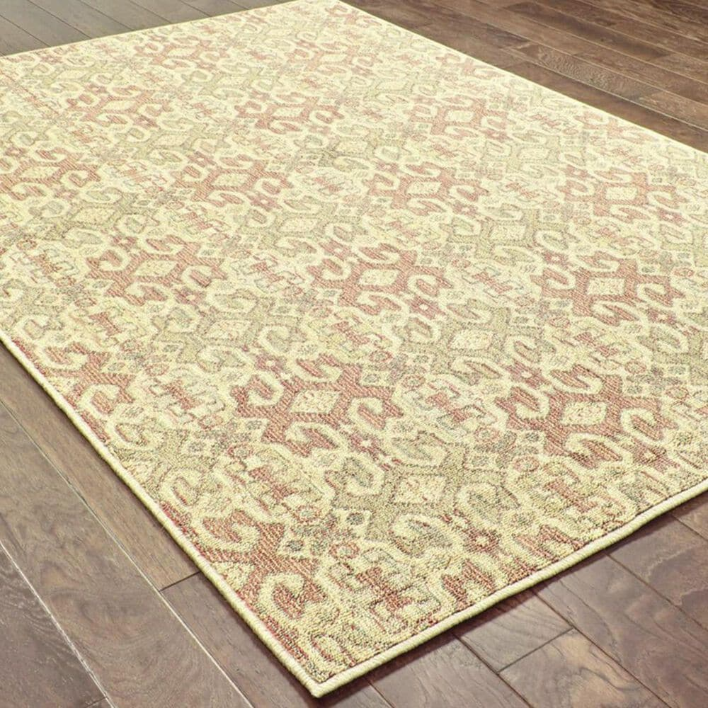 """Oriental Weavers Tommy Bahama Cabana 5501W 1'10"""" x 3'3"""" Pink and Green Area Rug, , large"""