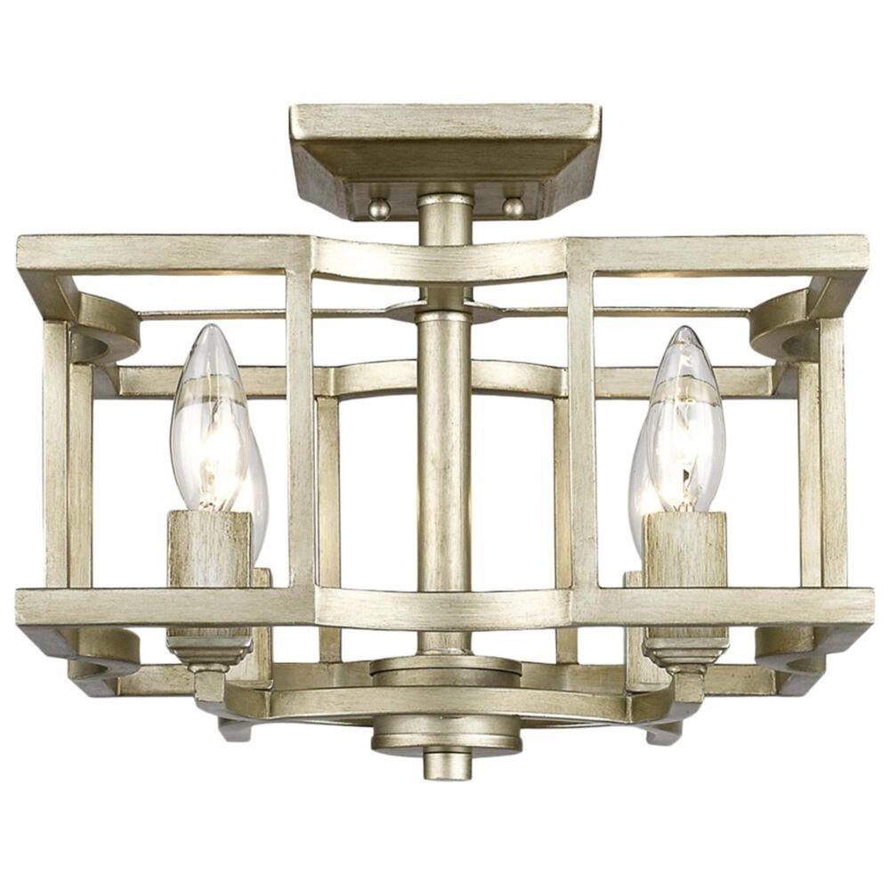 Golden Lighting Bellare Convertible Semi-Flush in White Gold, , large