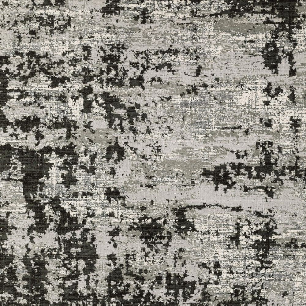 "Oriental Weavers Caravan Greyed Out 2'3"" x 7'6"" Grey and Black Runner, , large"
