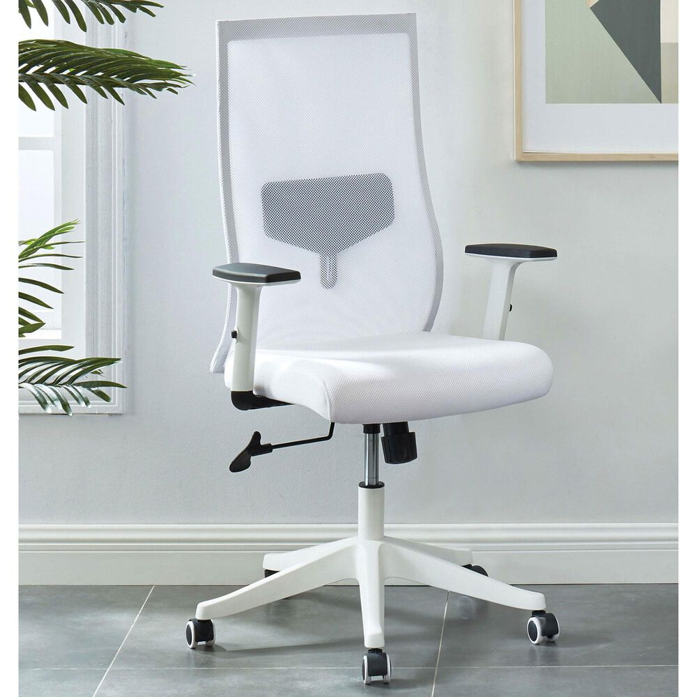 Furniture of America Waters Office Chair in White, , large