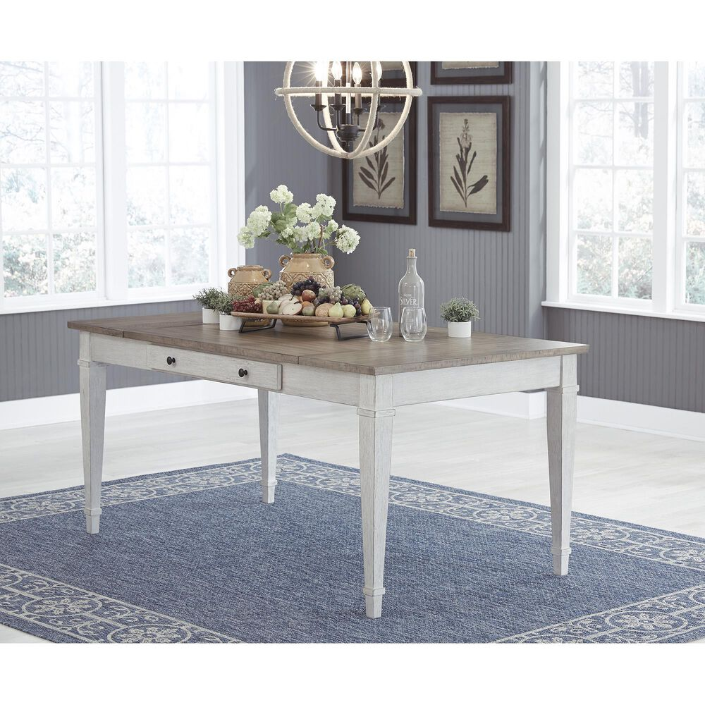 Signature Design by Ashley Skempton Storage Dining Table in Beige, , large
