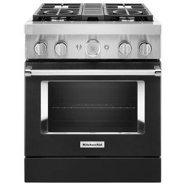 "KitchenAid 30"" Professional Smart Dual Fuel Range in Imperial Black, , large"