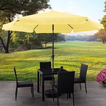 CorLiving 10' Round Tilting Patio Umbrella in Yellow, , large