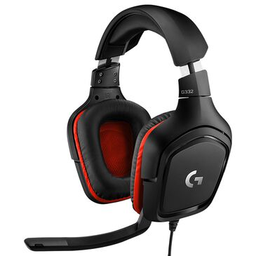 Logitech G332 Wired Stereo Gaming Headset in Black and Red, , large