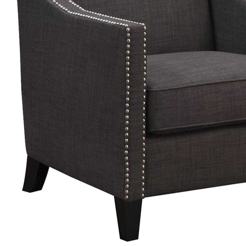 Mayberry Hill Erica Accent Chair with Walnut Leg in Heirloom Charcoal, , large
