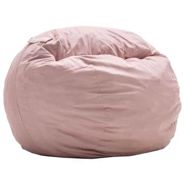 Comfort Research Fuf Kid's Bean Bag with Removable Cover in Desert Rose Lenox, , large