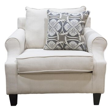 Northwestern Bayridge Chair in Cream, , large