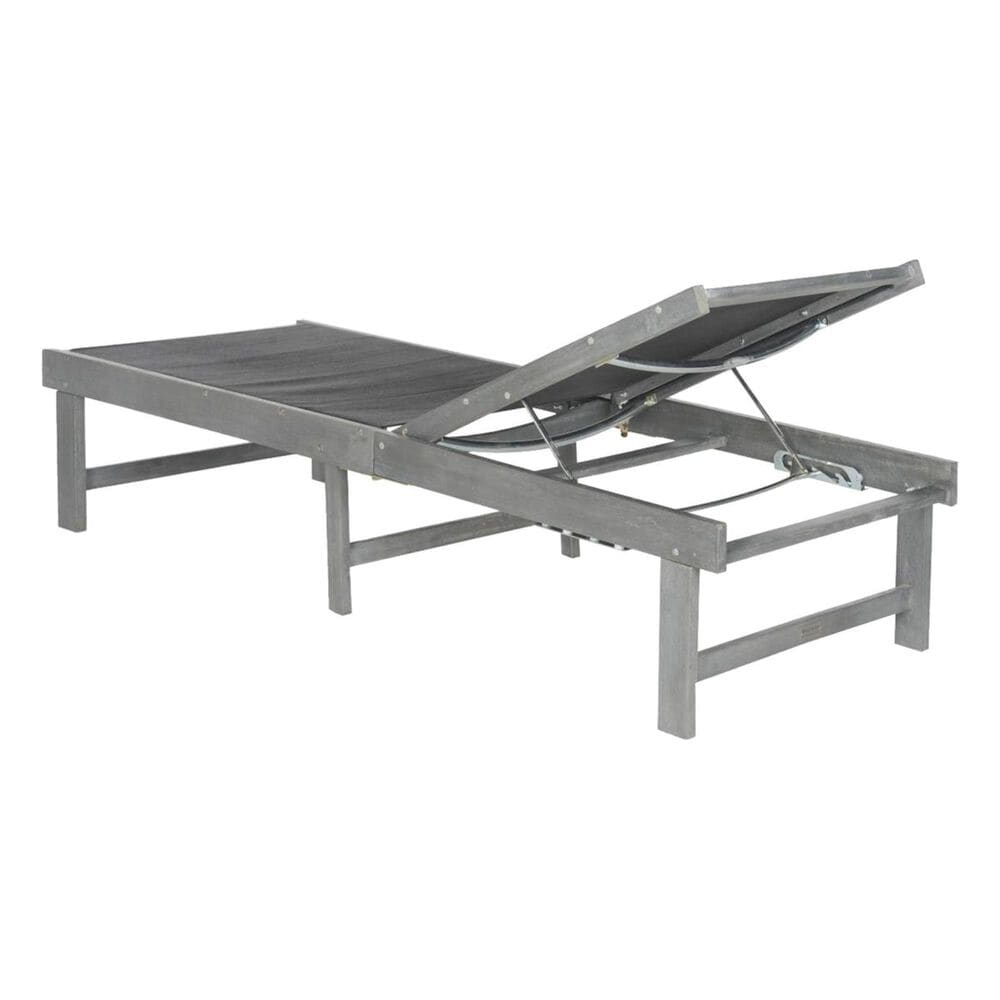 Safavieh Manteca Lounge Chair with Dark Grey Seat in Ash Grey, , large
