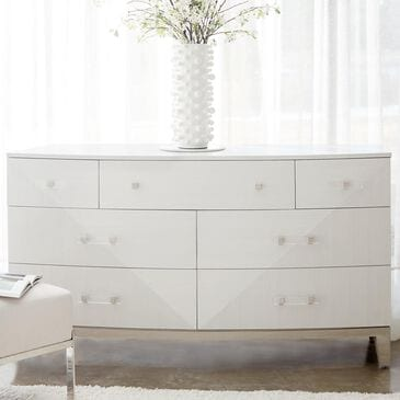 Bernhardt Axiom 7 Drawer Dresser in Linear White and Linear Gray, , large