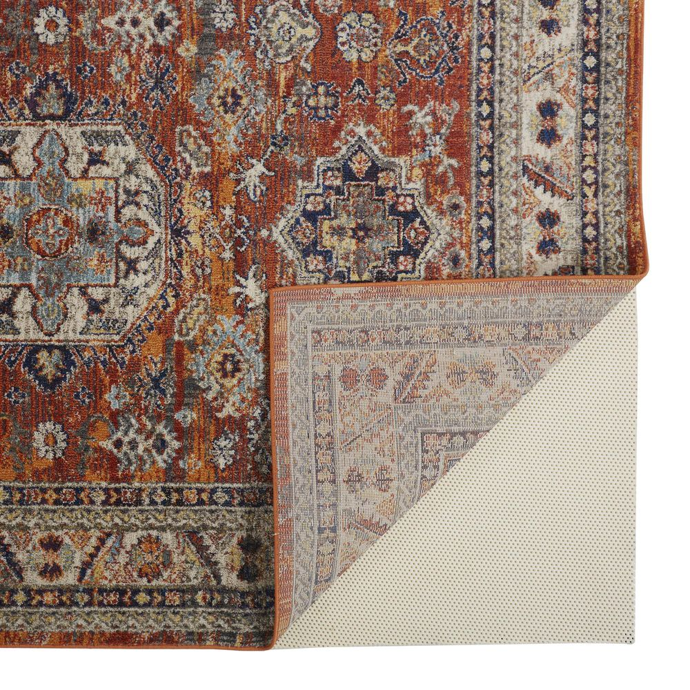 Feizy Rugs Bellini 2' x 10' Orange and Blue Runner, , large