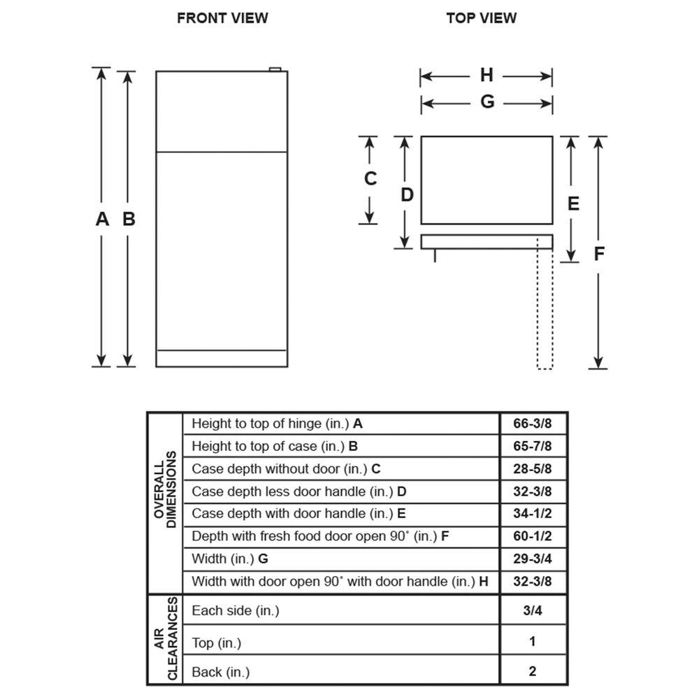 GE Appliances 21.9 Cu. Ft. Top-Freezer Refrigerator Dual Control in Black, , large