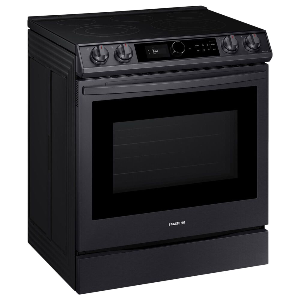 Samsung 6.3 Cu. Ft. Front Control Slide-in Electric Range with Smart Dial, Air Fry and Wi-Fi in Black Stainless Steel, , large