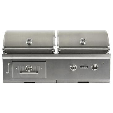"""Coyote Outdoor 50"""" Hybrid Natural Gas and Charcoal Grill in Stainless Steel, , large"""