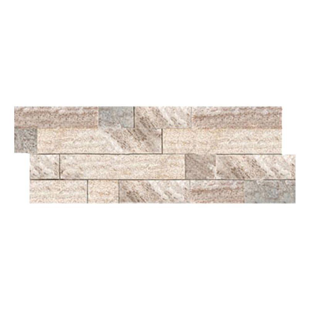 "Emser Slate Quartzite and Sandstone Stacked Cream Gold 6"" x 24"" Natural Stone Tile, , large"