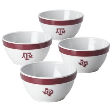 Texas A&M University 4-Piece Party Bowls in White, , large
