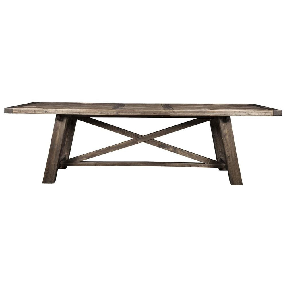 Alpine Furniture Newberry Extension Dining Table in Salvaged Grey - Table Only, , large