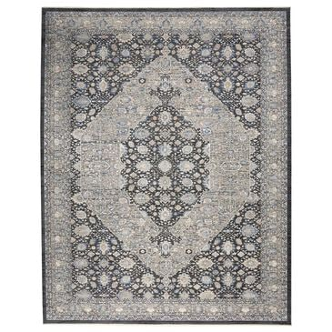 Nourison Starry Nights STN11 10' x 13' Grey and Blue Area Rug, , large