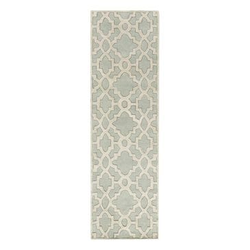"Surya Modern Classics CAN-2039 2'6"" x 8' Mint, Cream and Medium Gray Runner, , large"