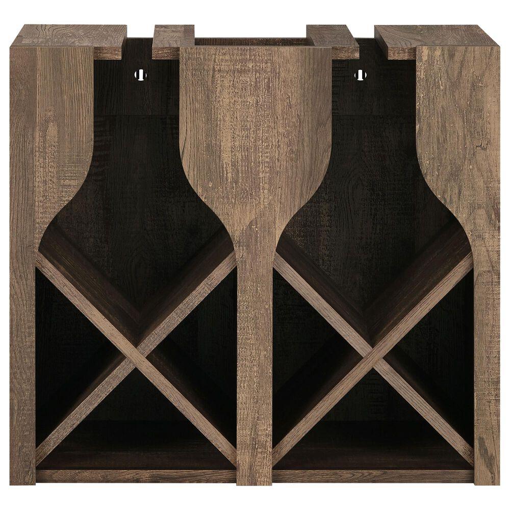 Furniture of America Garrison Wine Rack in Reclaimed Oak, , large