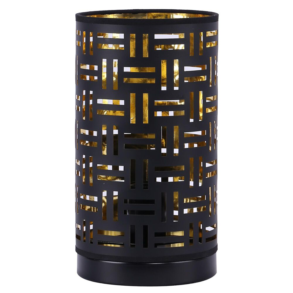 Grandview Gallery Uplight in Black and Gold, , large