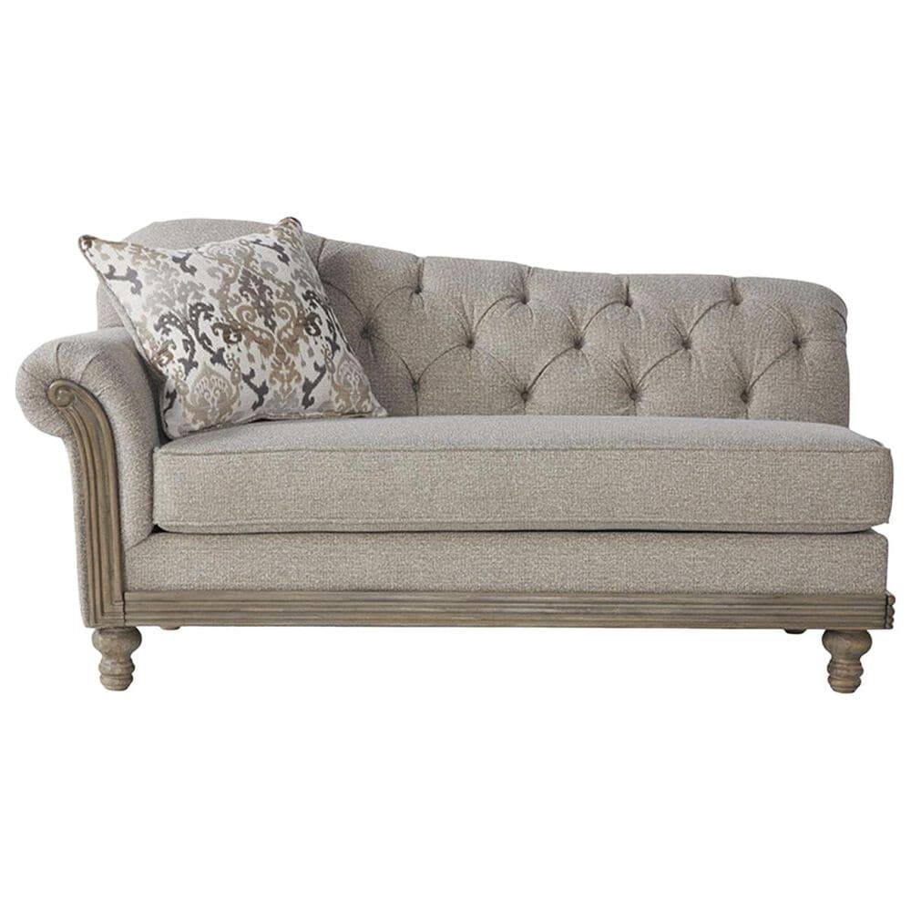Hughes Furniture Traditional Chaise in Sandstone Oyster, , large