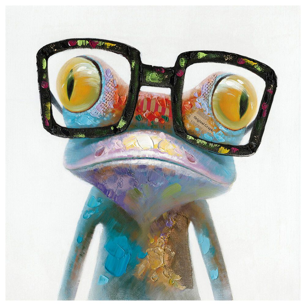 Moe's Home Collection Smart Frog Wall Decor in Multicolor, , large