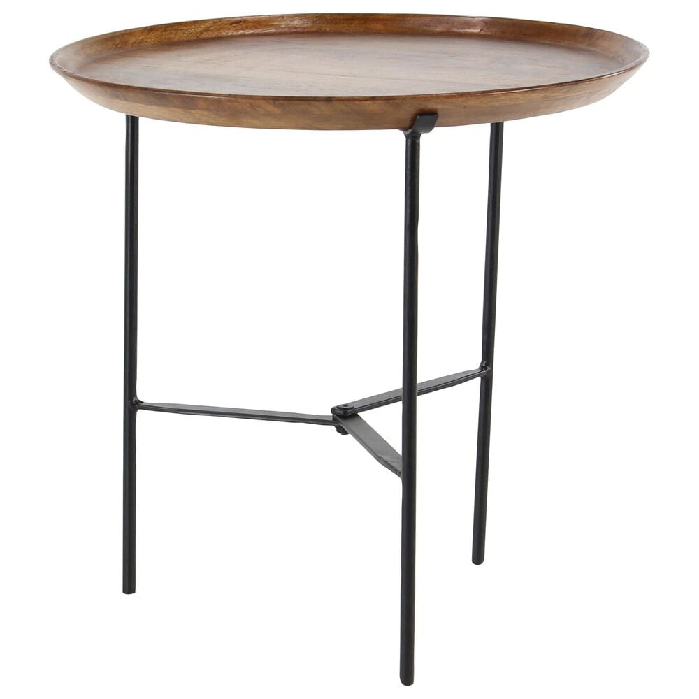 """Uma Enterprises Annabel 19"""" Accent Table in Brown, , large"""