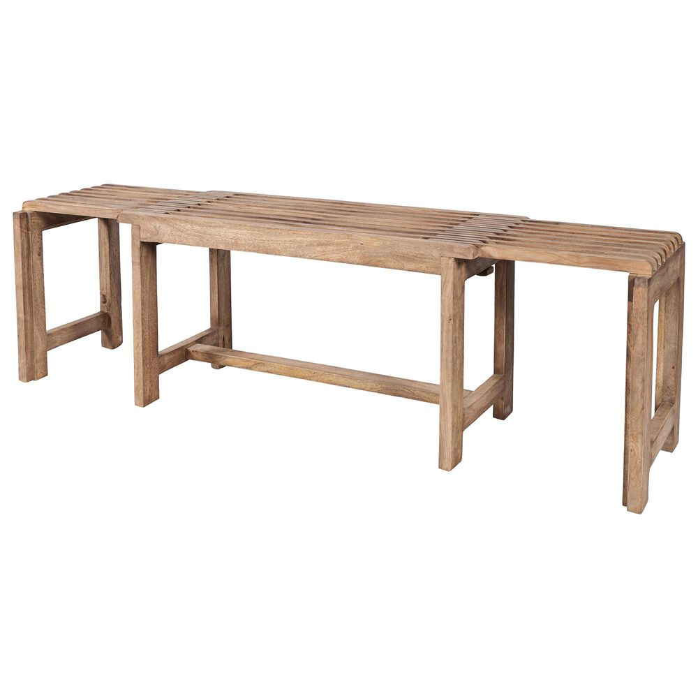 Waltham Global Archive Bradford Extendable Bench in Buff, , large
